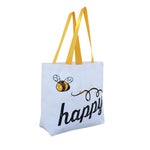 COTTON SHOPPING TOTE BAG MADE IN THE USA WITH B-HAPPY PRINT ( 50 pcs/case )