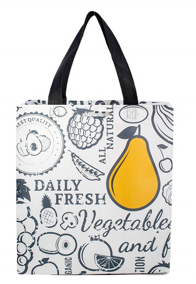 Reusable Grocery Shopping Bags Extremely Durable with Pear Print ( 96 pcs/case )