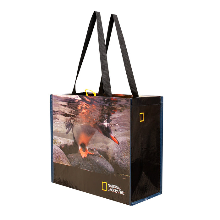 REUSABLE GROCERY SHOPPING TOTES NAT GEO PRINTS ( 48 pcs/case - 16 per design )