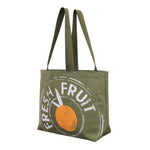FARM TO TABLE COTTON TOTE - FRESH FRUIT PRINT ( 50 pc/Case )