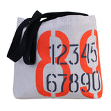 COTTON REUSABLE SHOPPING TOTE BAG WITH NAUTICAL PRINT ( 50 pc/case )