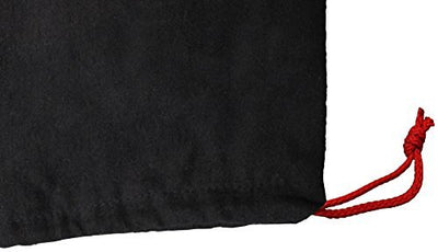 100% Cotton Shoe Storage Bag with Drawstring For Men and Women in Black Made in the USA (100 pcs/case)