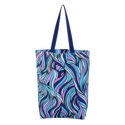 CARRYALL SHOPPING TOTE BAG WITH WATERCOLOR DESIGNS ( 50 pcs-25 of each design/case )