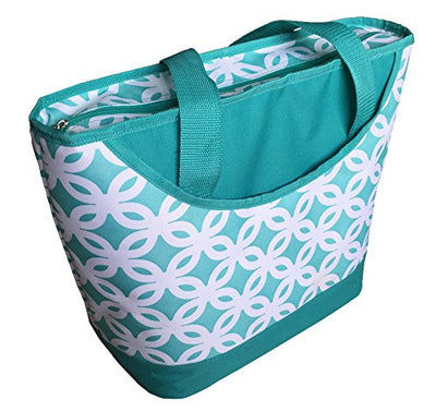 REUSABLE INSULATED GROCERY SHOPPING TOTE BAG WITH ZIPPER CLOSURE ( 25 pcs/case )