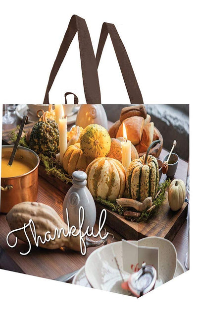 LAMINTED REUSABLE GROCERY BAG WITH FALL PRINT ( 96 pcs/case )