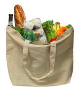 ORGANIC COTTON REUSABLE GROCERY BAG (100 pcs/case)