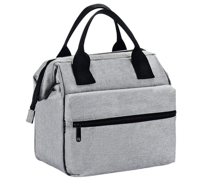 INSULATED OXFORD NYLON LUNCH BAG GREY (36 PCS/CS)