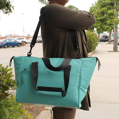LARGE INSULATED TOTE BAG WITH REMOVABLE LINING - TEAL (20 pcs/Case )