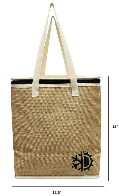 LARGE INSULATED JUTE GROCERY BAG  (24 pcs/case)
