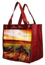 Laminated Non-Woven Polypropylene 6 Bottle Reusable Wine Tote