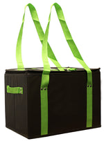 Deluxe, large collapsible, laminated and insulated reusable shopping box