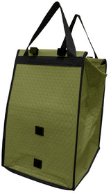 Non-Woven Polypropylene reusable cart bag with Velcro® flap closure