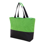600 Denier Polyester large capacity insulated reusable tote with zipper closure, PEVA lining and front pocket with zipper