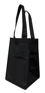 Non-Woven 4 Bottle Reusable Wine Bag