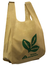 Non-Woven PP, inexpensive reusable shopping bag with ultrasonic stitch seams