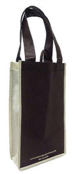 Non-Woven Polypropylene 2 Bottle Reusable Wine Tote