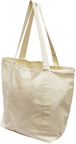 100% cotton canvas x-large reusable shopping tote