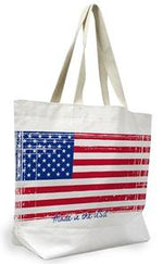 100% Cotton or Poly/Cotton large reusable shopping tote