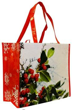 Large Reusable Shopping Tote made of rPET,  40% post-consumer recycled content