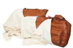 COTTON DUST BAG IN NATURAL MADE IN THE USA ( 75 pc/case - 25 per size )