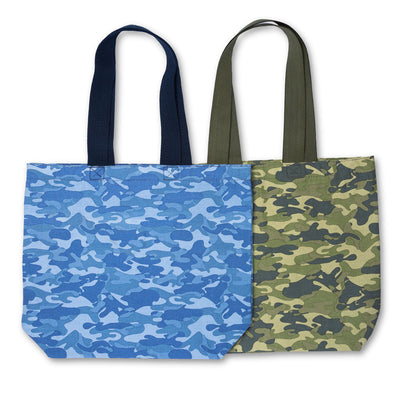 REUSABLE SHOPPING TOTE BAG IN CAMOUFLAGE ( 80 Pcs/case - 40 per color )