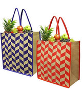 LARGE JUTE SHOPPING TOTE BAG ( 50pcs/case - 25 per color )