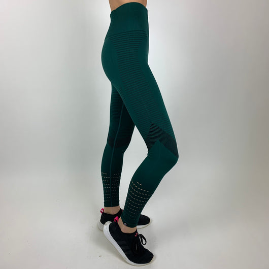 WOVEN Leggings - EMERALD GREEN