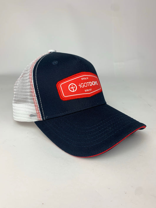 Trucker Cap - Navy/White/Red