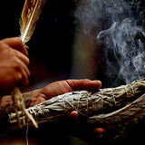 Smudging using feather