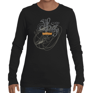 Scribble On Z / Women's Long Sleeve Tee