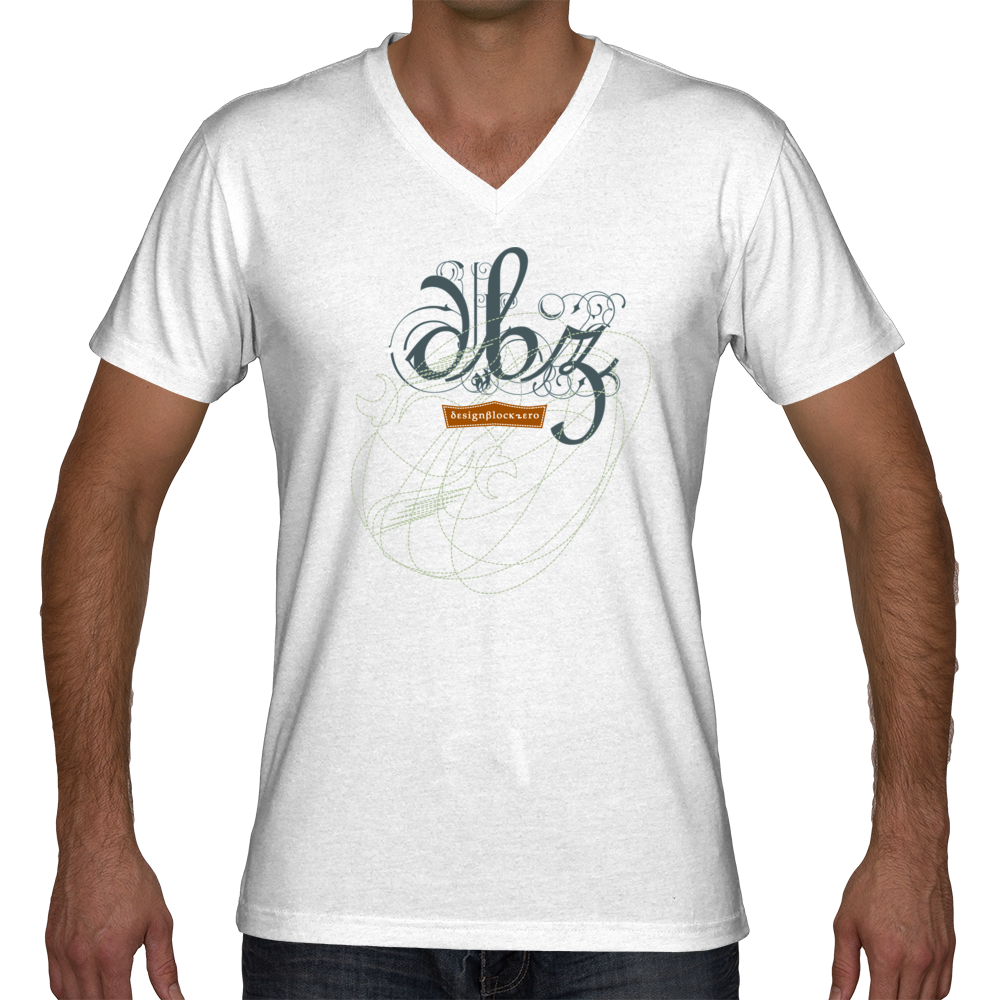 Scribble on Z / V Neck Tee