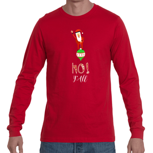 DBZ Xmas Ho! Y'all Santa Long Sleeve Tee