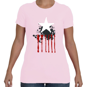 Striped Star Women's Tee