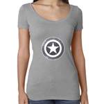 DBZ Gray Shield Women's Triblend Scoop Neck Tee