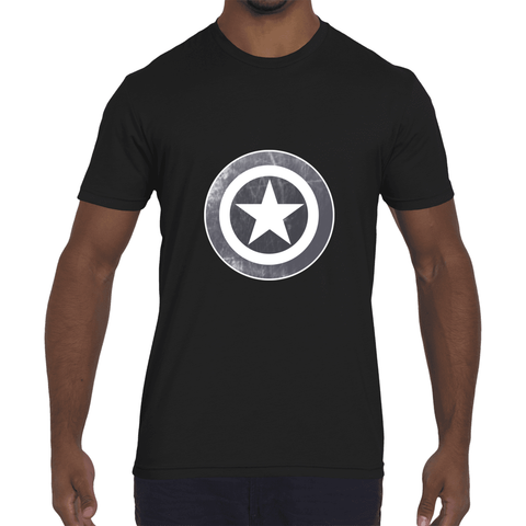 Star Shield In Gray Men's Tee