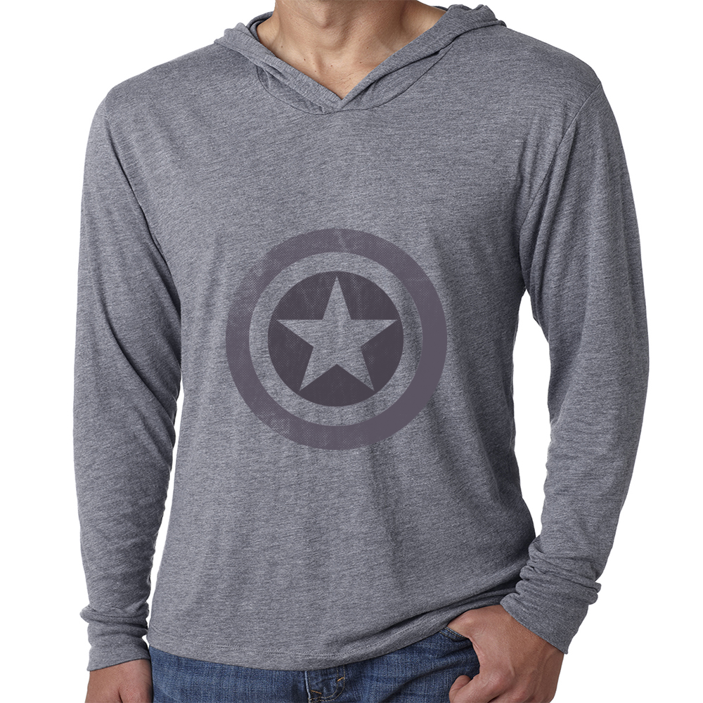 Star Shield In Gray Hoodie