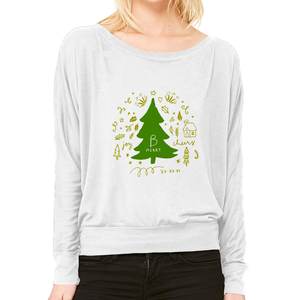 B Merry Scene Long Sleeve Flowy Off Shoulder