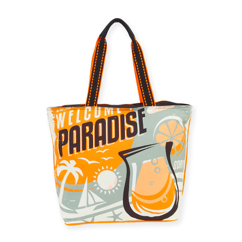 Retro Drift Welcome to Paradise / Shoulder Tote
