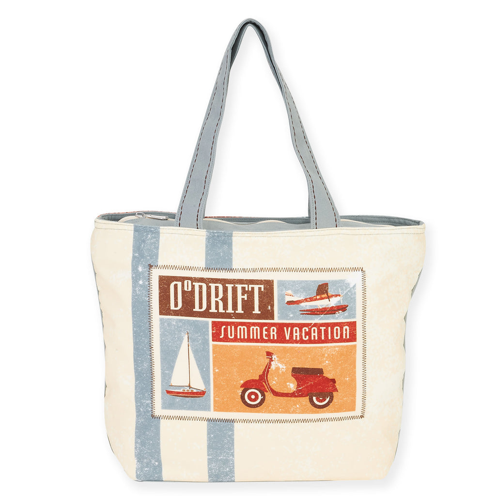 Retro Drift Summer Vacation / Shoulder Tote