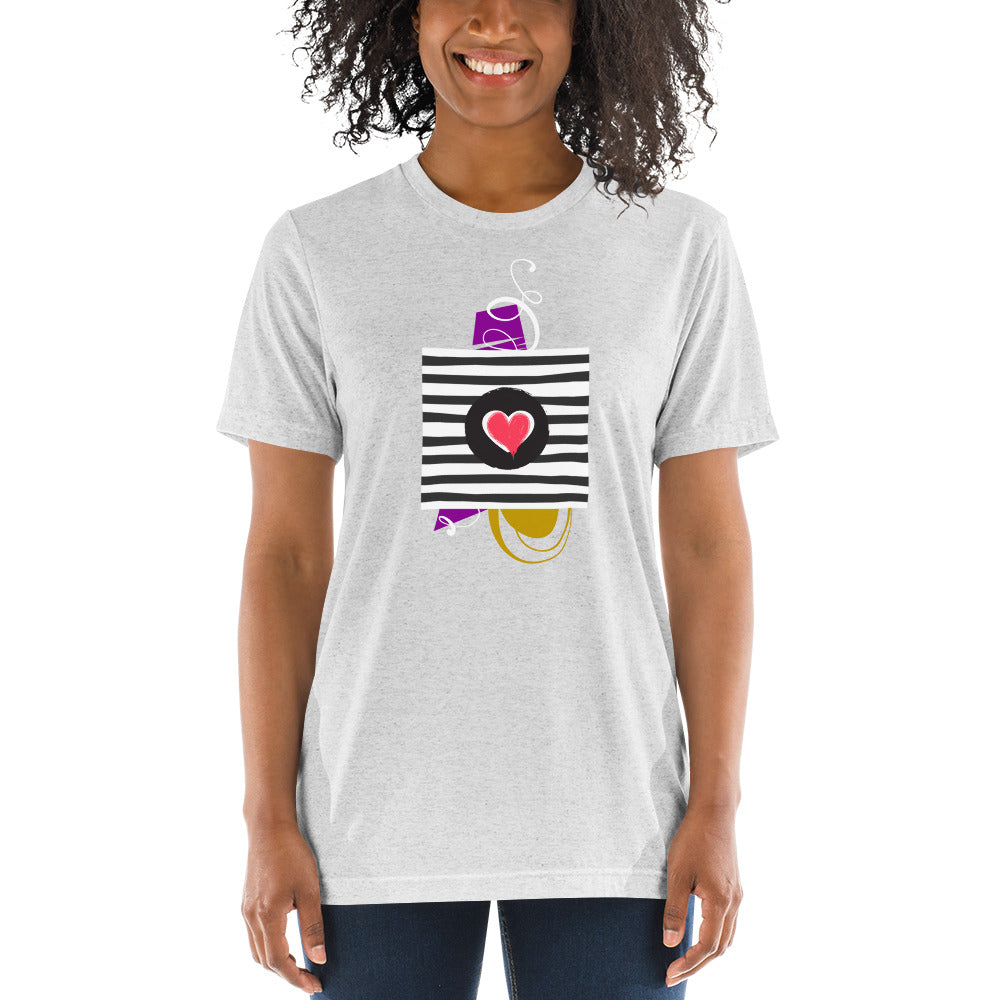Lines of Love Short sleeve t-shirt