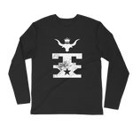TX Longhorn King Unisex Long Sleeve Fitted Crew