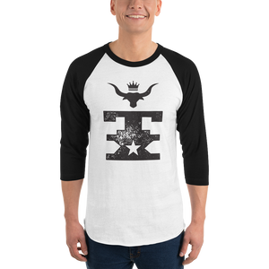 TX Longhorn King 3/4 sleeve raglan shirt