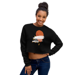 Orange Leaf 1 Crop Sweatshirt