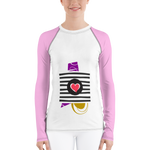 Lines of Love Women's long-sleeve rash guard