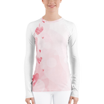 Watercolor Love Women's  long-sleeve Rash Guard