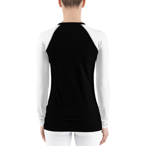 Lines of Love on Black Women's long-sleeve Rash Guard