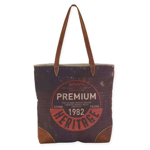 STAMPED SHOULDER TOTE
