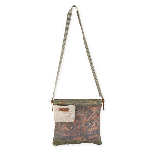 GOLD SPLATTERED SQUARE CROSSBODY