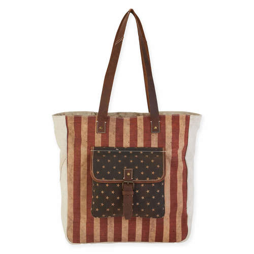 FLAG SHOULDER TOTE AMERICA