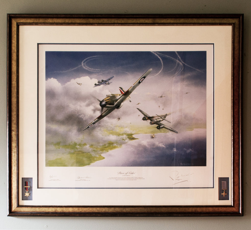 Piece of Cake Peter Randall Kent Battle of Britain framed with DFC